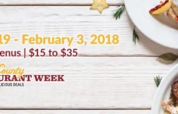 2018-01-19 thru 2018-02-03 Restaurant Week