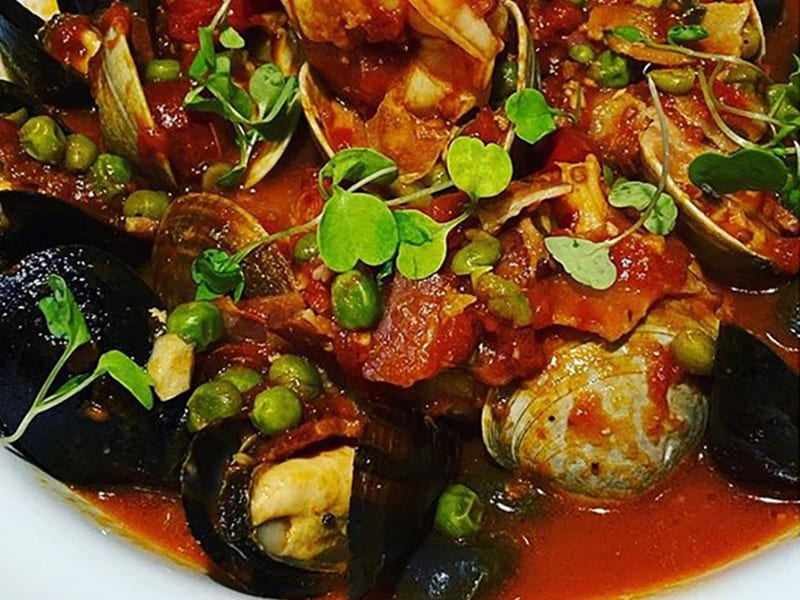 Clams, Mussels, Shrimp in Marinara Sauce